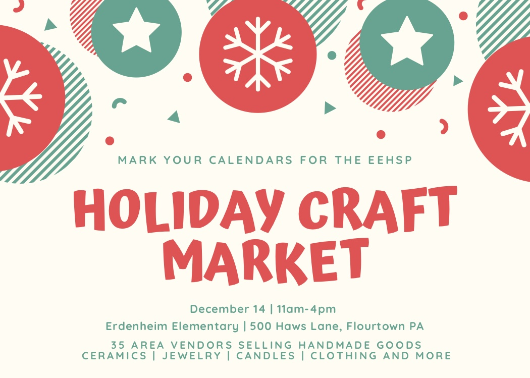 2019 Holiday Market – December 14, 2019 @ Erdenheim Elementary Gymnasium